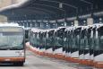 Illustration picture shows buses at Gare de l'Ouest / Weststation in Brussels. (BELGA PHOTO BENOIT DOPPAGNE)