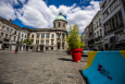 Illustration picture shows the Place Communale - Gemeenteplein square in Molenbeek-Saint-Jean - Sint-Jans-Molenbeek, Brussels. (BELGA PHOTO LAURIE DIEFFEMBACQ)