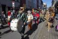 Illustration picture shows the 'Carnaval Sauvage' at the Vossenplein/ place du jeu de Balle in the Brussels' Marollen/ Marolles neighbourhood, Saturday 20 March 2021. (BELGA PHOTO NICOLAS MAETERLINCK)