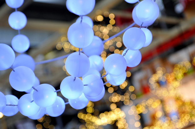 Illustration picture showing Christmas lights (BELGA PHOTO DIRK WAEM)