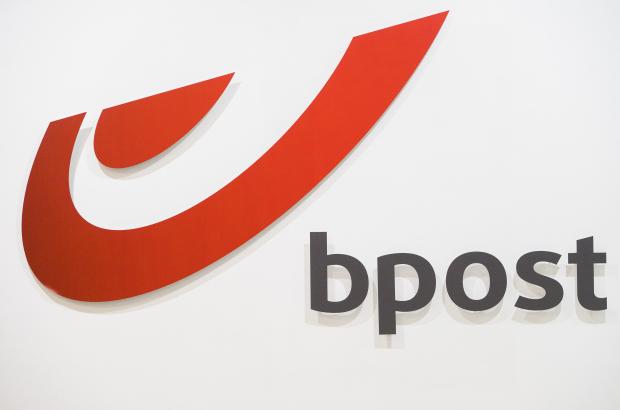 The logo of Belgian postal service Bpost (BELGA PHOTO)