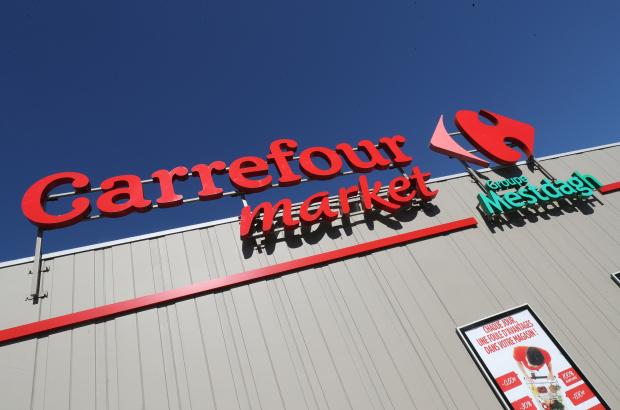Illustration shows a Carrefour Market supermarket. (BELGA PHOTO VIRGINIE LEFOUR)
