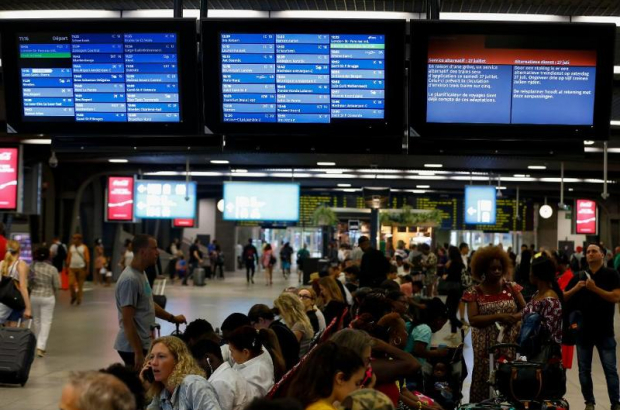Midi station during train strike July 2019/Belga