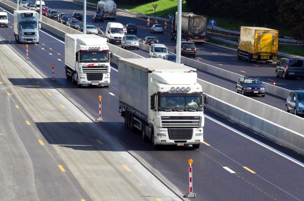 BRUSSELS, BELGIUM: Illustration picture shows traffic on the highway E40 near Zaventem to Leuven, (BELGA PHOTO JULIEN WARNAND)