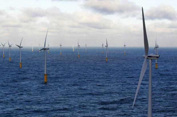 ZEEBRUGGE, BELGIUM: Illustration picture shows windmills along the North sea in Zeebrugge  (BELGA PHOTO NICOLAS MAETERLINCK)