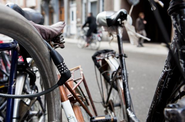 LEUVEN, BELGIUM: Illustration picture shows a bike lock, on Monday 06 January 2014 in Leuven. (BELGA PHOTO SISKA GREMMELPREZ)