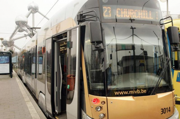 Tram Heysel Brussels Stib/Mivb
