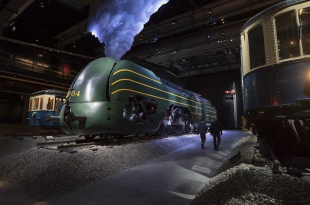 Europalia Train & Tracks exhibition at Train World