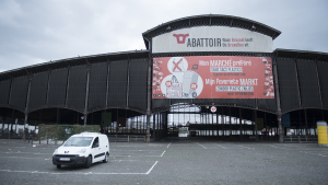 Illustration picture shows the Abattoir in Anderlect, Brussesl -  'het slachthuis van Anderlecht' / 'les abattoirs d'Anderlecht'. (BELGA PHOTO LAURIE DIEFFEMBACQ)