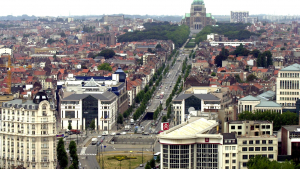 BRUSSELS: illustration picture shows Boulevard Leopold II / Leopold II laan which runs to Koekelberg Basilica in Brussels. (BELGA PHOTO HERWIG VERGULT)