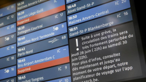 48-hour train strike, Midi Station, Brussels