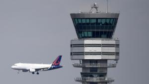 Illustration picture shows the Skeyes control tower at Brussels International Airport, Zaventem. (BELGA PHOTO YORICK JANSENS)