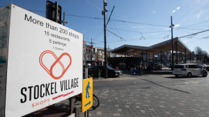 Illustration picture shows the Place Dumon - Dumonplein in the Stockel - Stokkel neighbourhood in Woluwe-Saint-Pierre, Tuesday 30 March 2021. (BELGA PHOTO BENOIT DOPPAGNE)