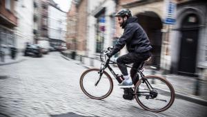 BRUSSELS, BELGIUM: Illustration picture shows an e-bike in Brussels. (BELGA PHOTO SISKA GREMMELPREZ)