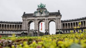 Illustration picture shows the Arch in the Jubelpark - Parc du Cinquantenaire, Brussels. (BELGA PHOTO LOAN SILVESTRE)