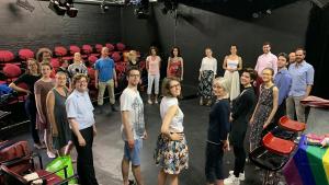 Final rehearsals for Brussels Summer Shakespeare Festival